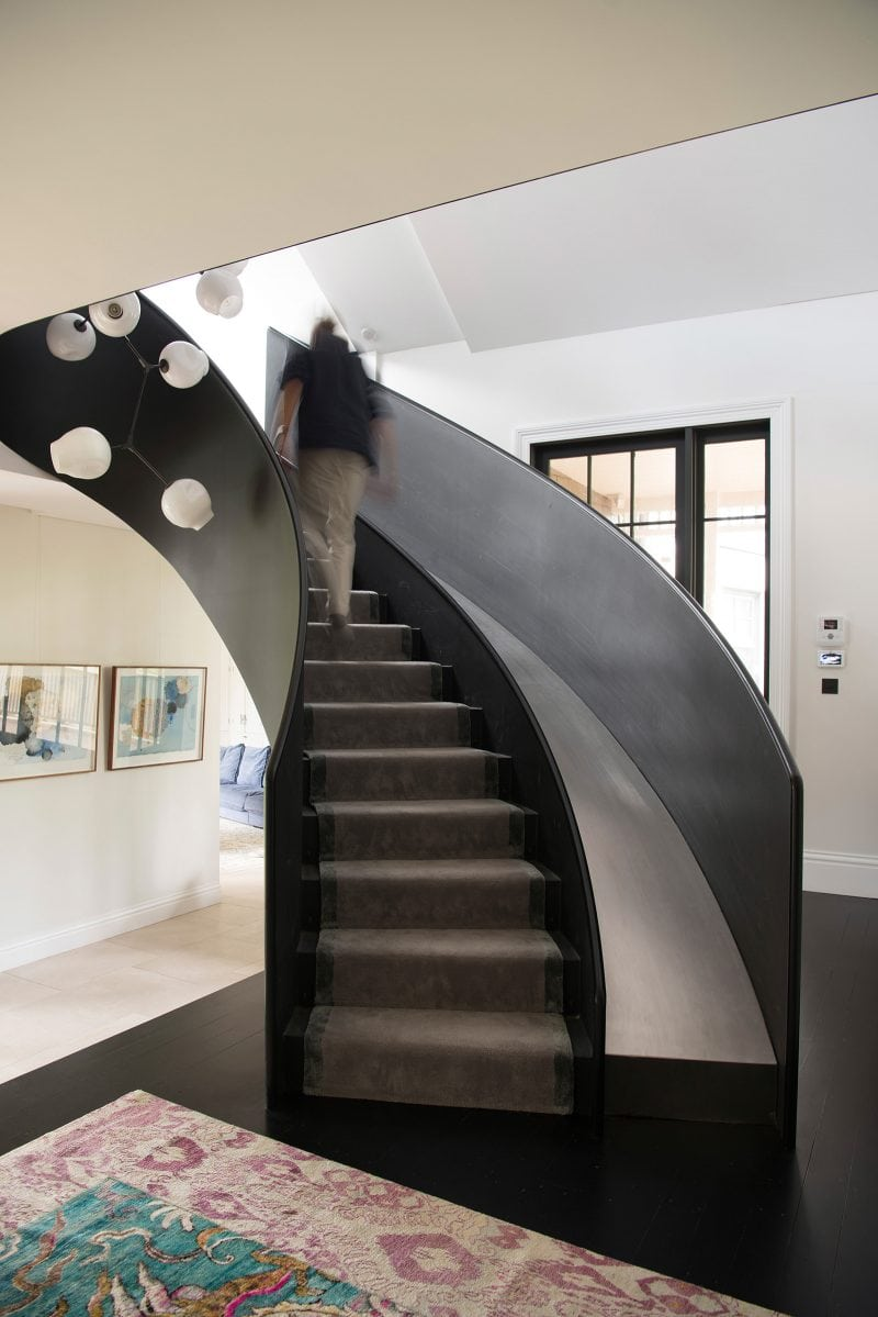 Luigi Rosselli Architects, Steel Stair, Slide, Stair Slide, Timber Floorboards