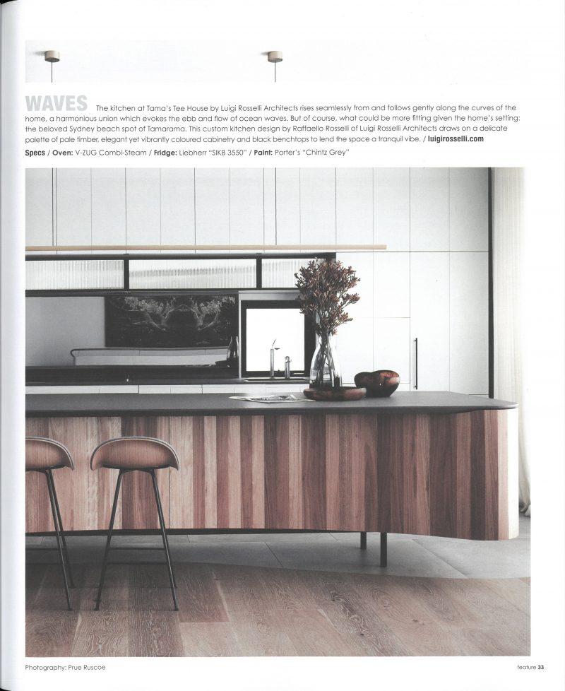 Luigi Rosselli, Kitchen Island Bench, Kitchen, Custom Joinery, Timber Island Bench