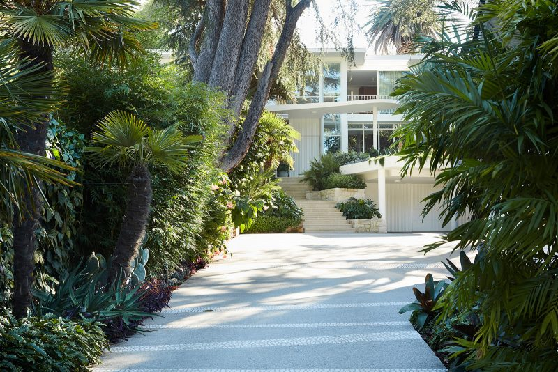 Luigi Rosselli, Concrete, Cobblestone Driveway, Paved steps, Concrete Curved Awning