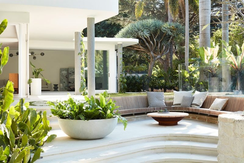 Luigi Rosselli Architects, Timber Built in Seat, Timber Outdoor Seat, Concrete, Paving, Stone
