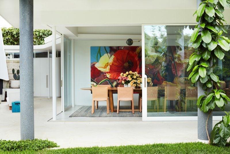 Luigi Rosselli Architects, Climber Plants, Open Corner Sliding Glass Doors, Dining Room Interior Design