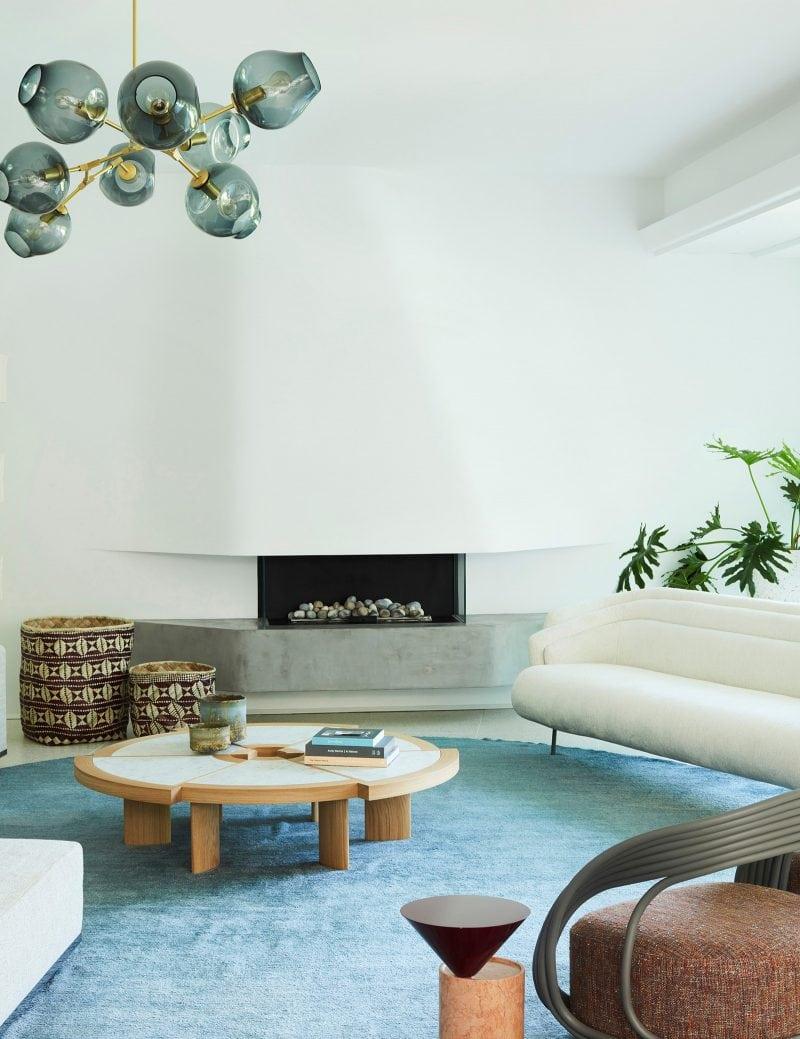 Luigi Rosselli Architects, Real Flame Fireplace, Built in Fireplace, Concrete Fireplace