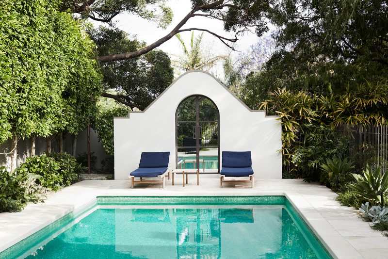 Luigi Rosselli Architects, classic pool, pool gate, pool landscape