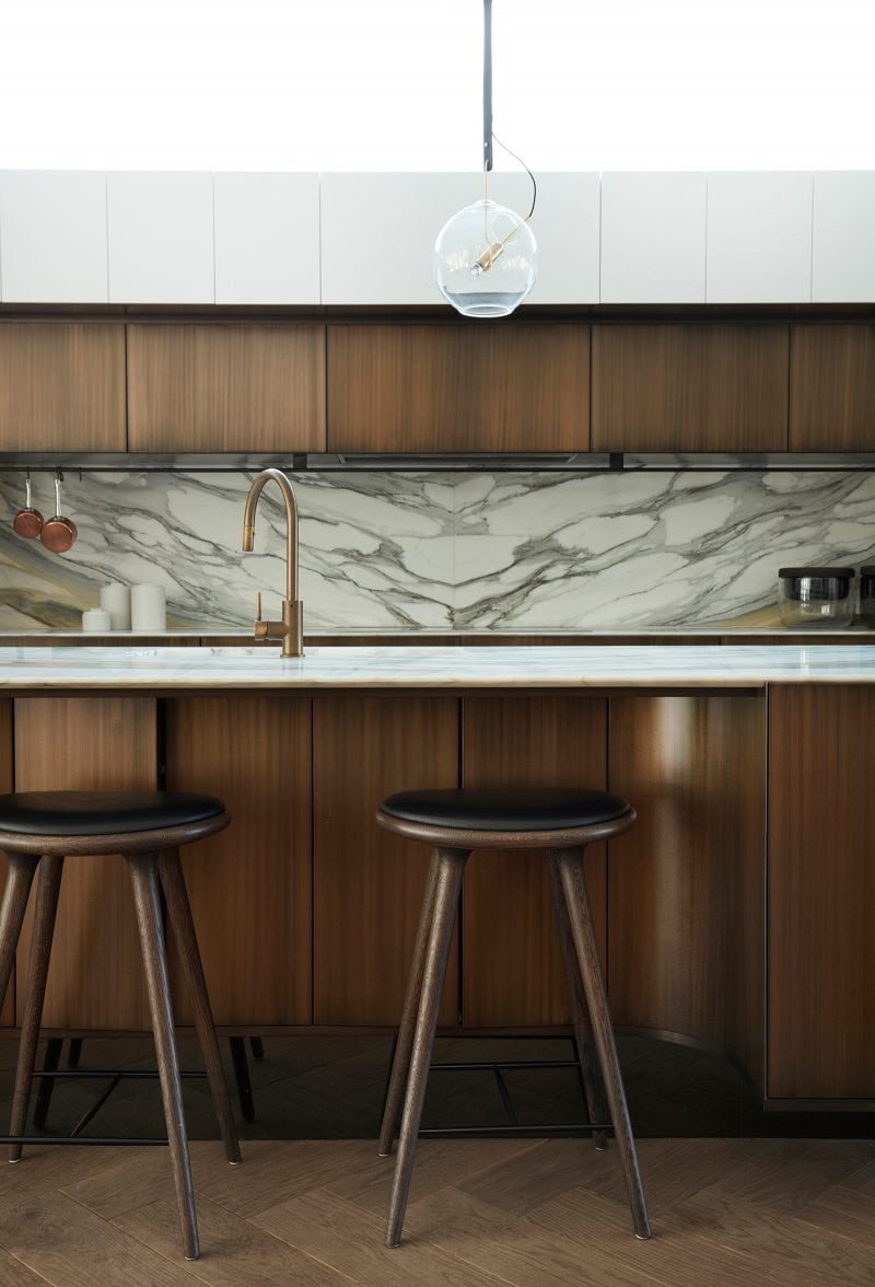 Luigi Rosselli Architects, marble splashback