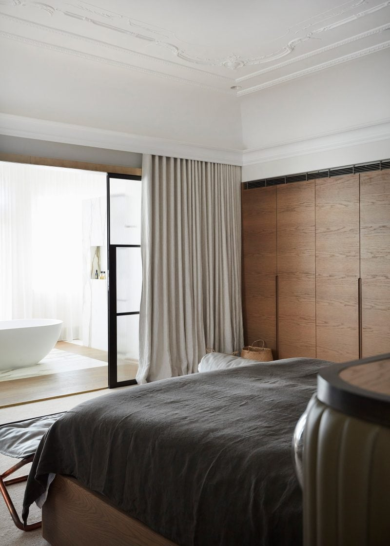 Luigi Rosselli Architects, master bed
