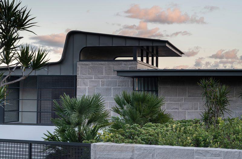 Luigi Rosselli Architects, zinc roof, metal roof, shaped roof, sandstone, Woollarha house, Sydney house, Sydney architecture, Woollahra architecture
