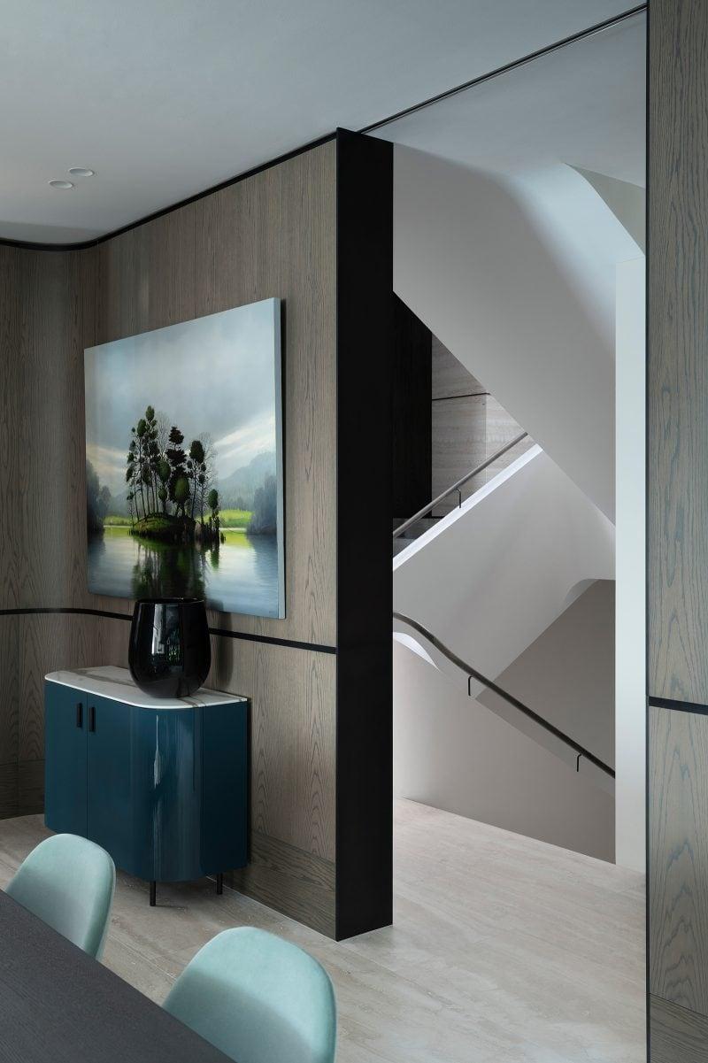 Luigi Rosselli Architects, stairwell, stairs, travertine tiles, Woollarha house, Sydney house, residential architecture, Sydney architecture, Woollahra architecture