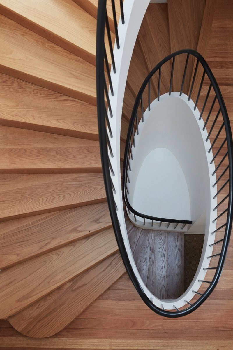 Luigi Rosselli Architects, Sydney architecture, Woollahra house, residential architecture, frameless glass balustrade, Woollahra architecture, stair design